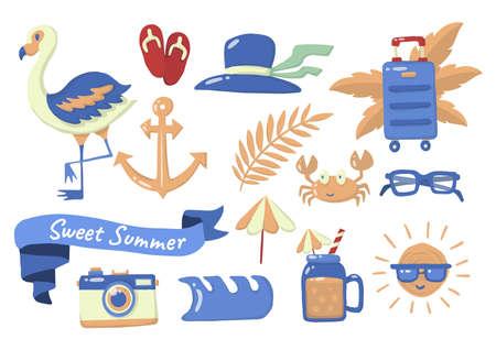 Summer label Vector  for banner, poster, flyer 版權商用圖片 - 157330713