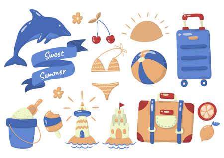 Summer label Vector  for banner, poster, flyer 向量圖像