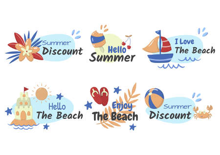Summer label Vector  for banner, poster, flyer 版權商用圖片 - 157330741