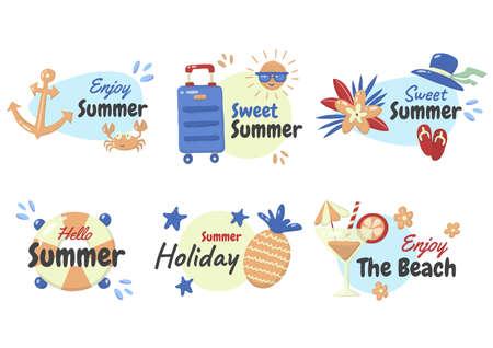 Summer label Vector  for banner, poster, flyer 版權商用圖片 - 157330781