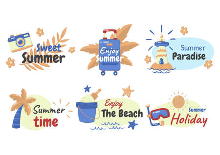Summer label Vector  for banner, poster, flyer 版權商用圖片 - 157330798