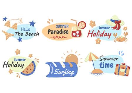 Summer label Vector  for banner, poster, flyer 版權商用圖片 - 157330832