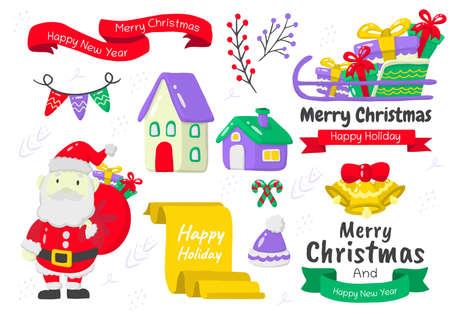 christmas label Vector for banner, poster, flyer