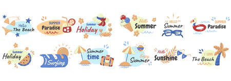 Summer label Vector for banner, poster, flyer 版權商用圖片 - 159770935