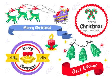 christmas label Vector for banner, poster, flyer 版權商用圖片 - 159759214