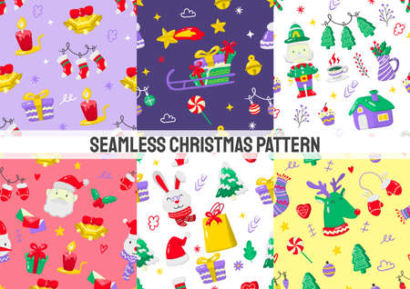 Seamless christmas Pattern Vector for banner, poster, flyer 版權商用圖片 - 159759215
