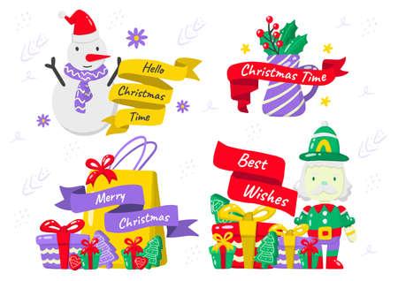 christmas label Vector for banner, poster, flyer 版權商用圖片 - 159759218