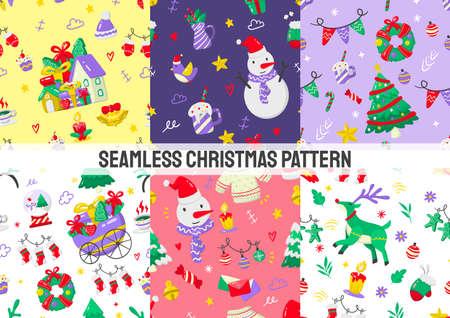 Seamless christmas Pattern Vector for banner, poster, flyer