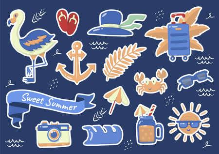 Summer label Vector Logo for banner, poster, flyer 向量圖像