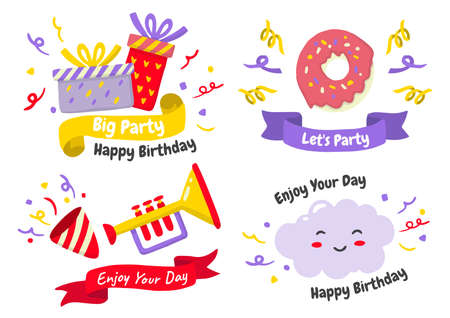 Party label Vector Logo for banner, poster, flyer