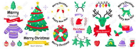 christmas label Vector Logo for banner, poster, flyer