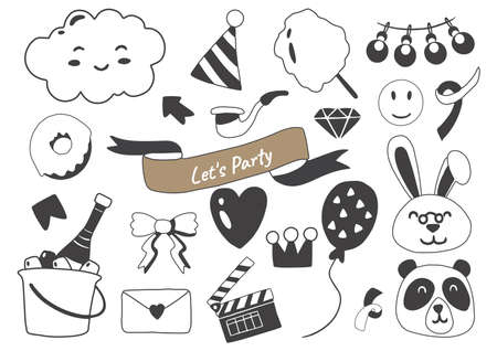 Party illustration Vector for banner, poster, flyer 向量圖像