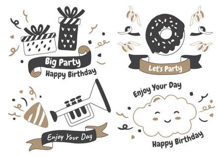 Party label Vector Logo for banner, poster, flyer