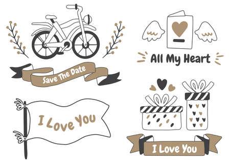 valentine label Vector Logo for banner, poster, flyer