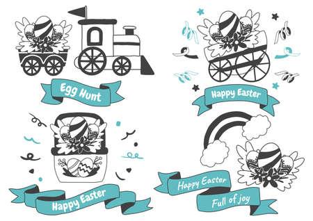 Easter Vector illustration for banner, poster, flyer