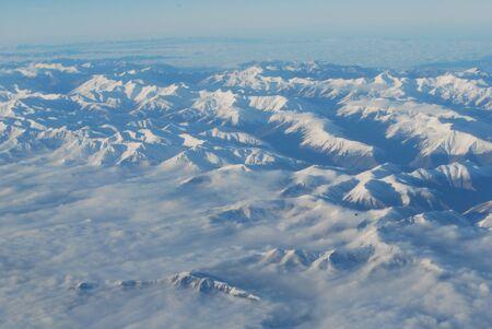 atmosfera: ambiente monta�a Everest en el planeta tierra Foto de archivo