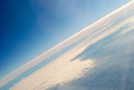 top: Top view Mount Everest Stock Photo