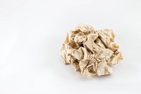 servilleta: Pieza rizado de servilleta con fondo blanco