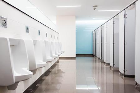 男性トイレ 写真素材