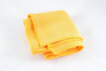 handkerchief: Yellow handkerchief on white background Stock Photo