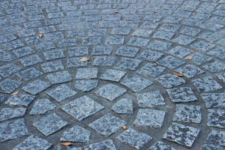 piso piedra: piso de piedra de forma circular Foto de archivo