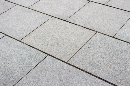 stone floor: square shape stone floor Stock Photo