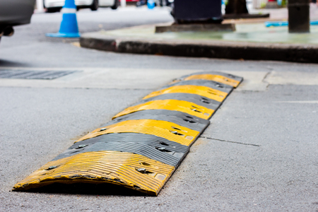 road bump in yellow and black