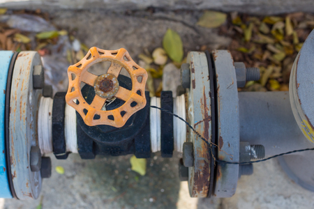 orange water: Orange water valve and pipe