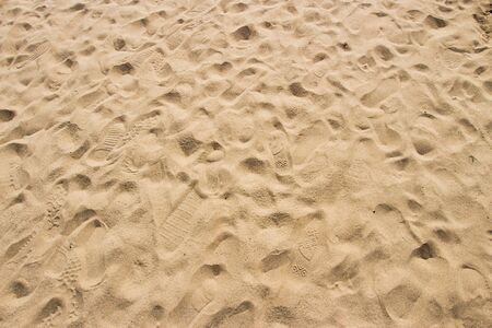 foot step: Foot step on sand