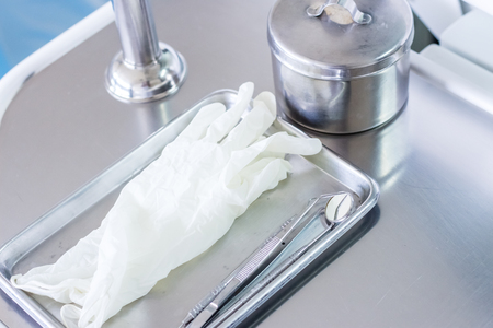 plastic glove: Dental equipment and white plastic glove