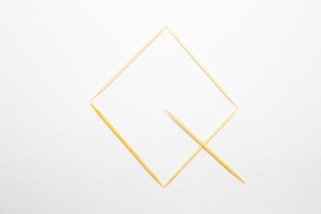 q: Toothpick alphabet Q