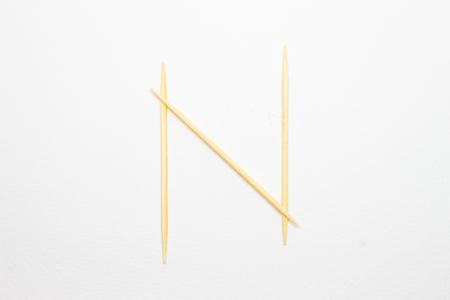 toothpick: Toothpick alphabet N