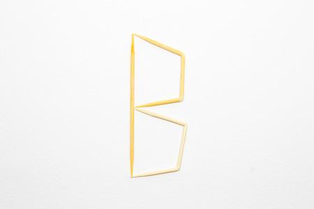 toothpick: Toothpick alphabet B Stock Photo
