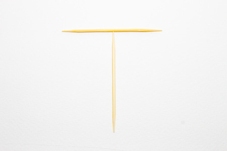 toothpick: Toothpick alphabet T