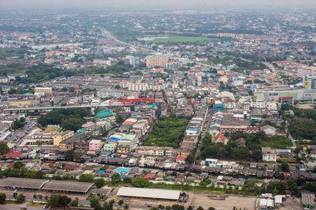 arial view: Arial view of Bangkok city, Thailand