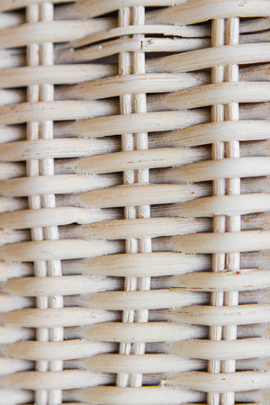 Woven wooden texture of chair in close up Stock Photo