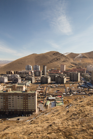 View outside the city of Ulaanbaatar, Mongolia Banque d'images