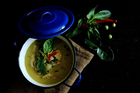 thai food: Thai food - Chicken Green Curry Stock Photo