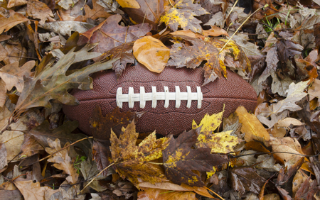 Game time - Football in fallen leaves