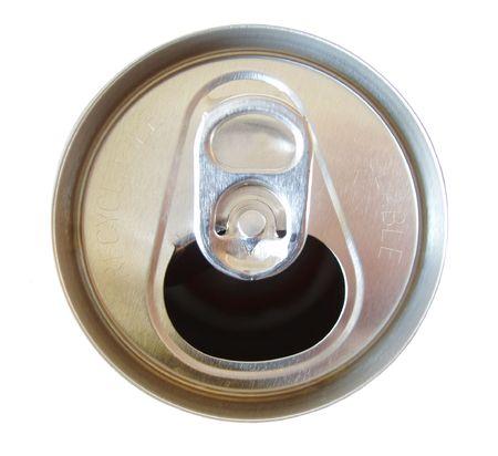 cola canette: ouvert de soude peuvent top  Banque d'images