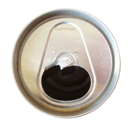 soda can:  soda can with tab off