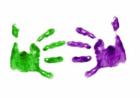 identidad cultural: Dedo de la mano pintada de manos