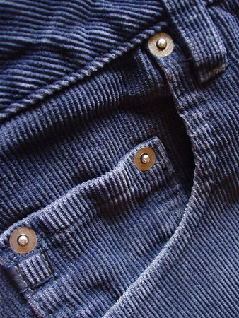 famous industries: corduroy pants details