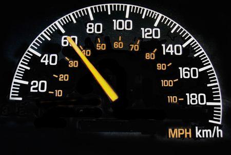 mph: speedometer reading 60 kph