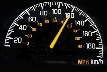 kilometer: speedometer reading 120 kph