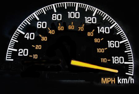 Speedometer Reading Maximum Speed Stock Photo Picture And Royalty