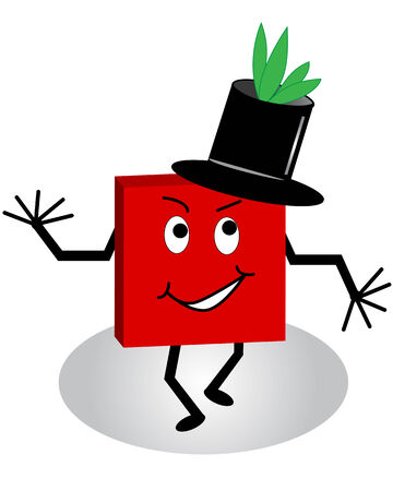 A comical cartoon character with leaves growing out of his tophat Vector