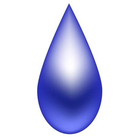 dewdrop: Shiny blue raindrop