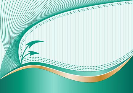 flechas curvas: Resumen de antecedentes con decorativos elegantes l�neas onduladas, curvas flechas, rayas sutiles de fondo y el espacio para a�adir su propio texto. Vectores