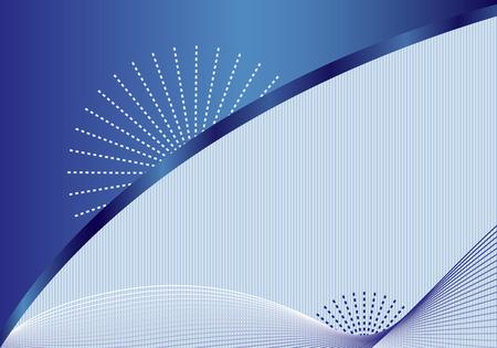 azul marino: Resumen de fondo con l�neas onduladas de decoraci�n elegante, aureola azul, fondo de rayas sutiles y en el espacio para a�adir su propio texto.